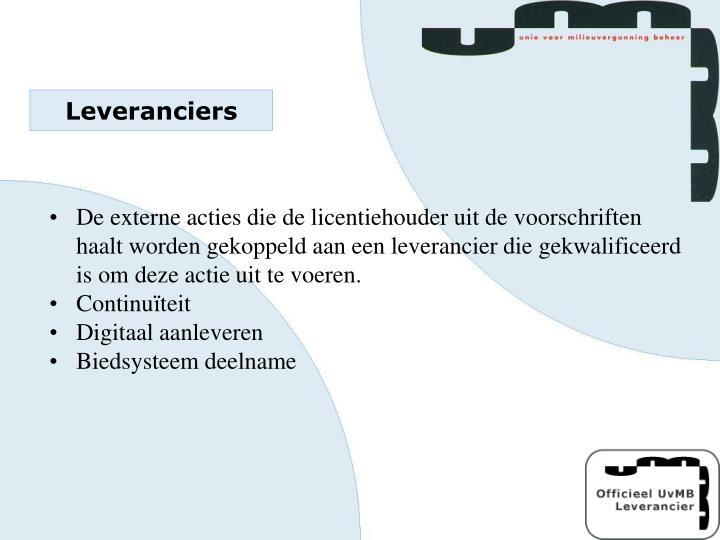 Leveranciers