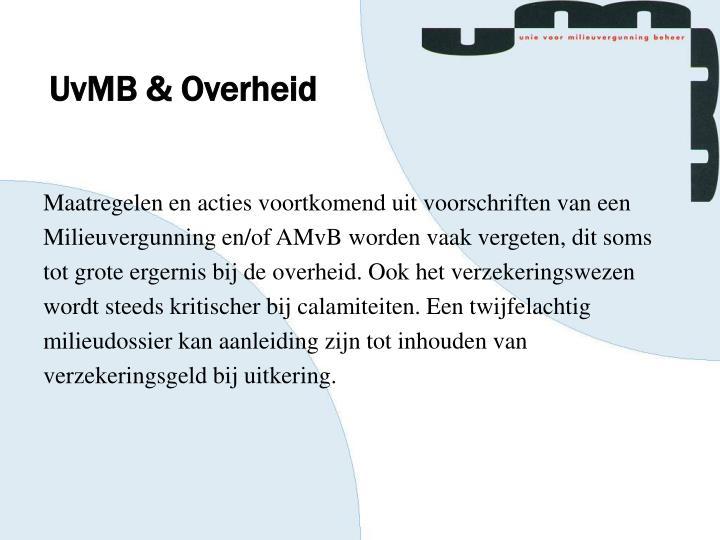 UvMB & Overheid
