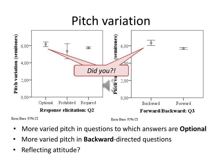 Pitch variation