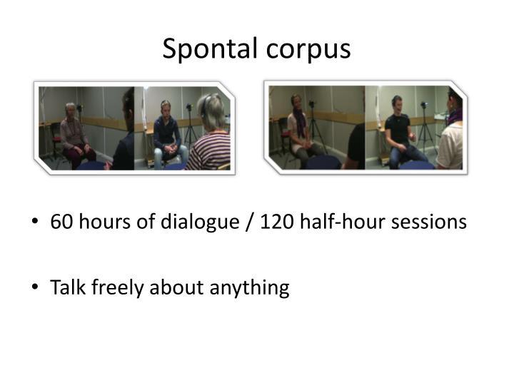 Spontal corpus