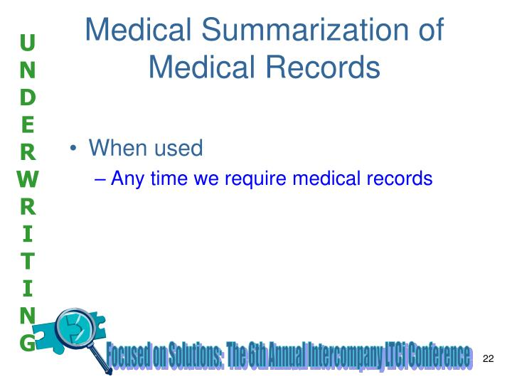 Medical Summarization of Medical Records