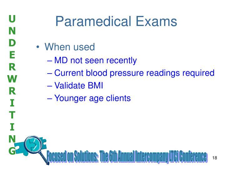 Paramedical Exams