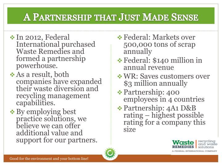 A Partnership that Just Made Sense
