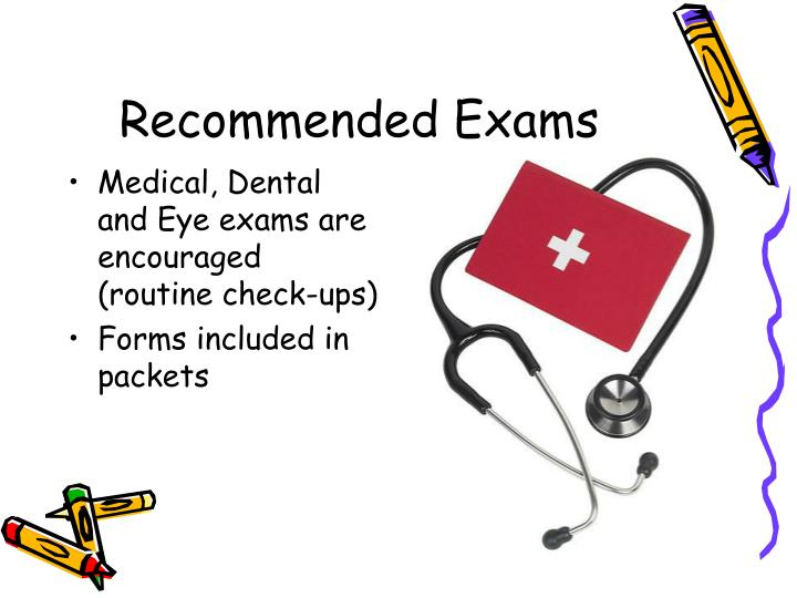 Recommended Exams