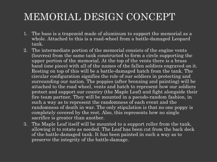MEMORIAL DESIGN CONCEPT