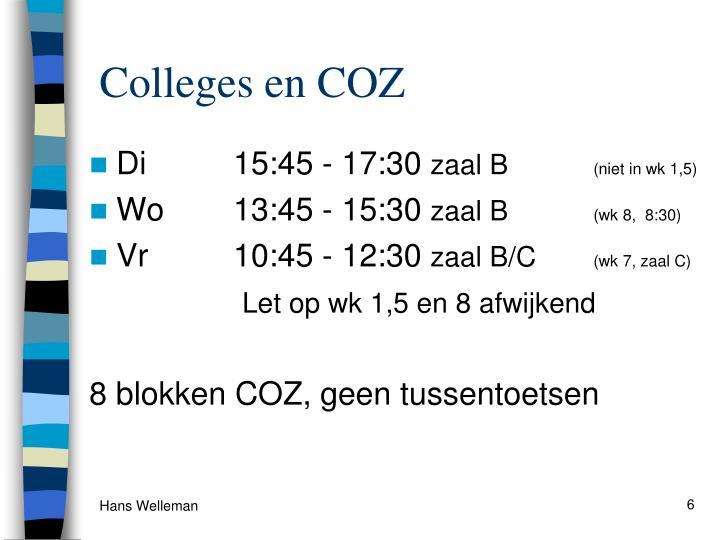 Colleges en COZ