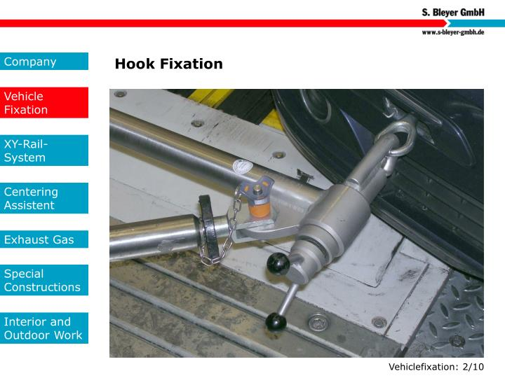 Hook Fixation