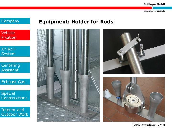Equipment: Holder for Rods