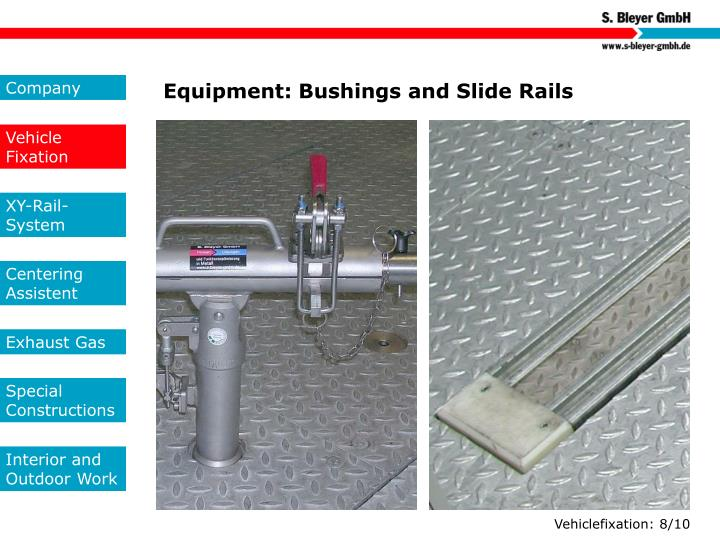 Equipment: Bushings and Slide Rails