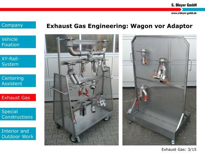 Exhaust Gas Engineering: Wagon vor Adaptor