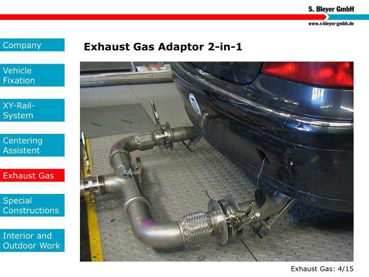 Exhaust Gas Adaptor 2-in-1