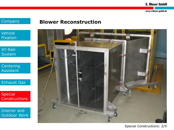 Blower Reconstruction