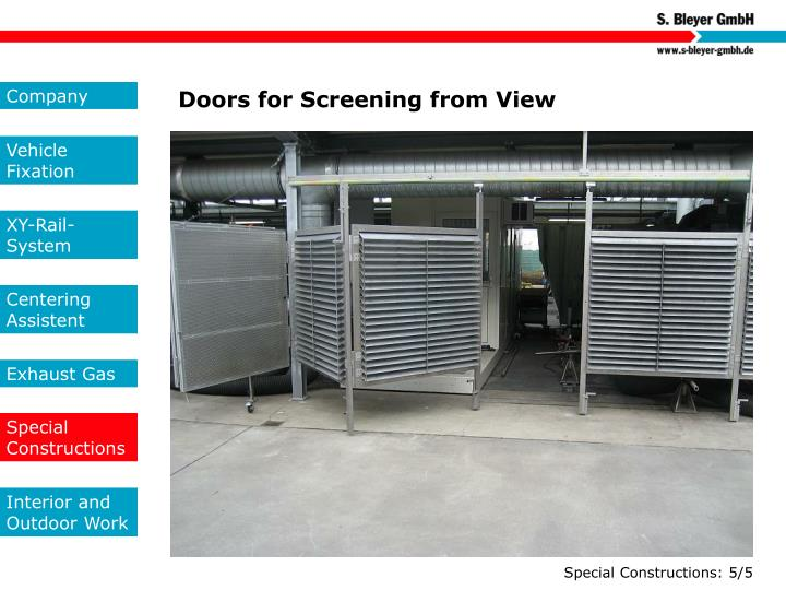 Doors for Screening from View