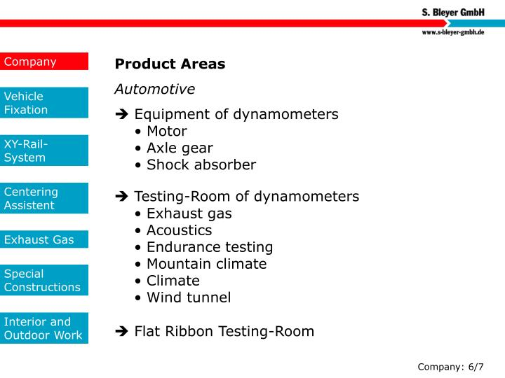 Product Areas
