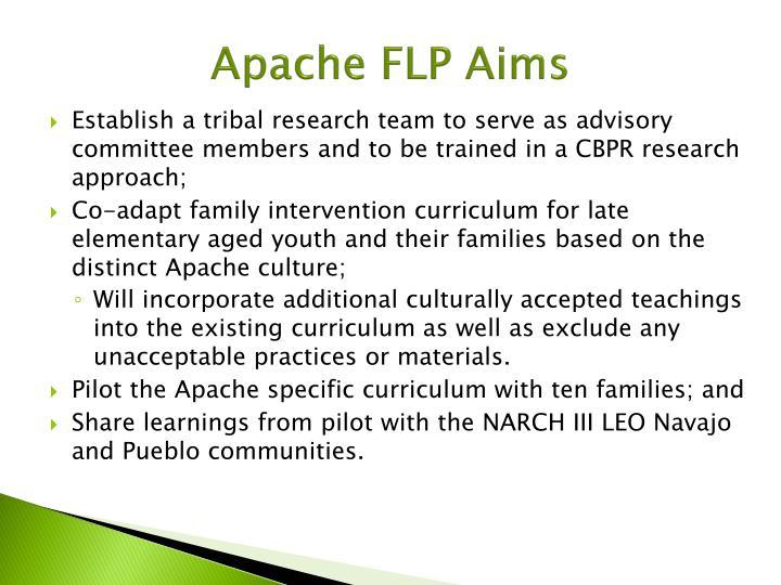 Apache FLP Aims
