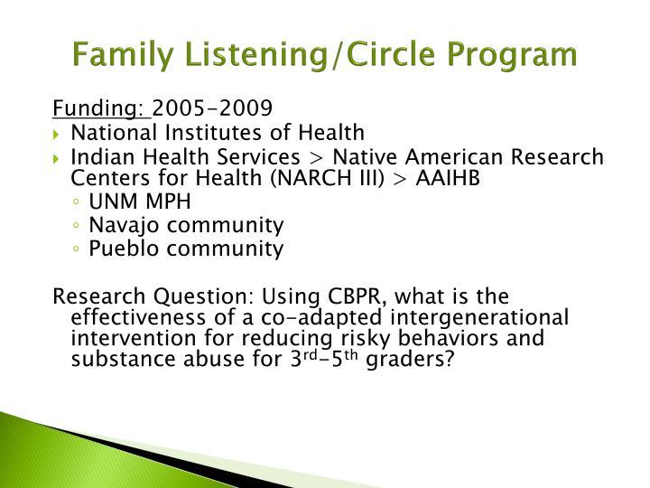 Family Listening/Circle Program
