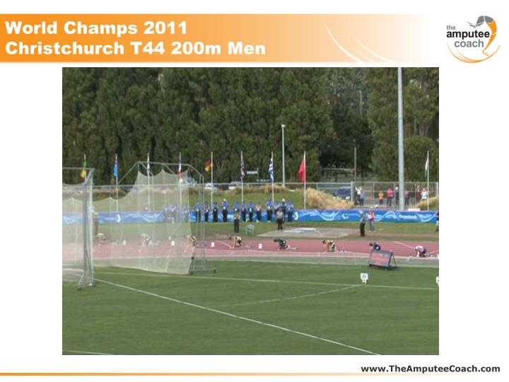 World Champs 2011 Christchurch T44 200m Men