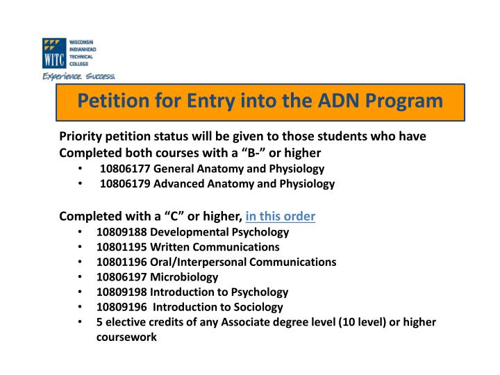 Priority petition status will be given to those students who have