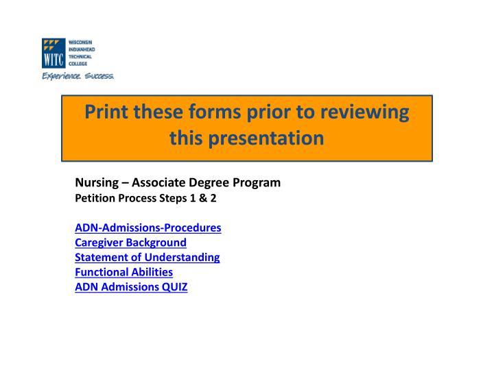 Nursing – Associate Degree Program