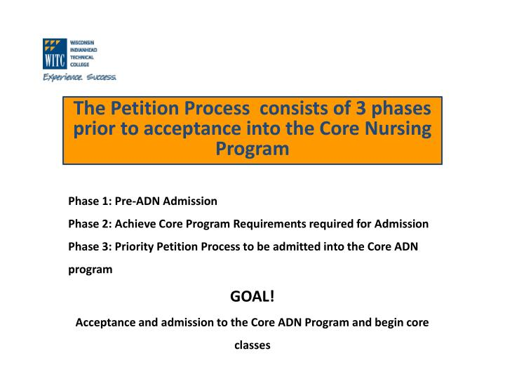 Phase 1: Pre-ADN Admission
