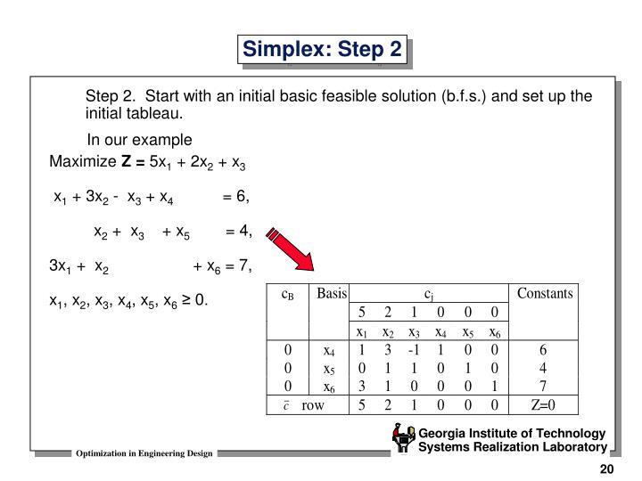 Simplex: Step 2