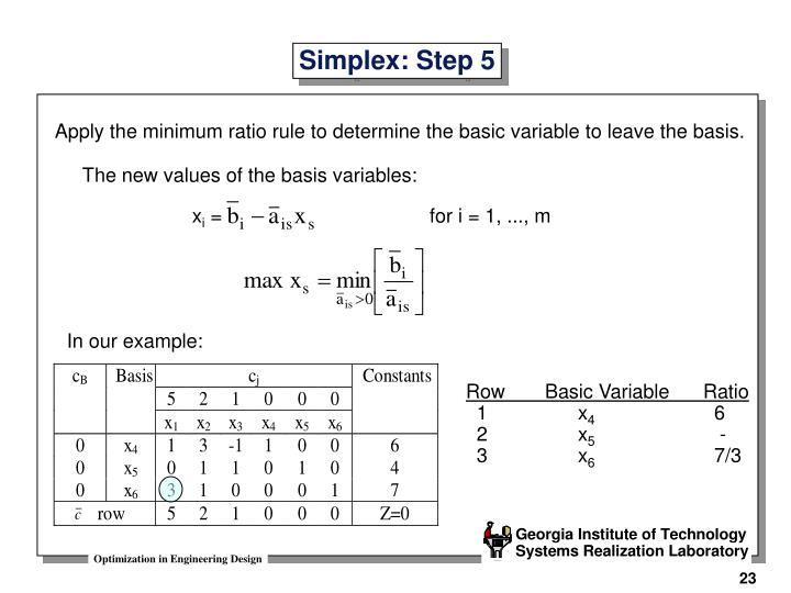 Simplex: Step 5