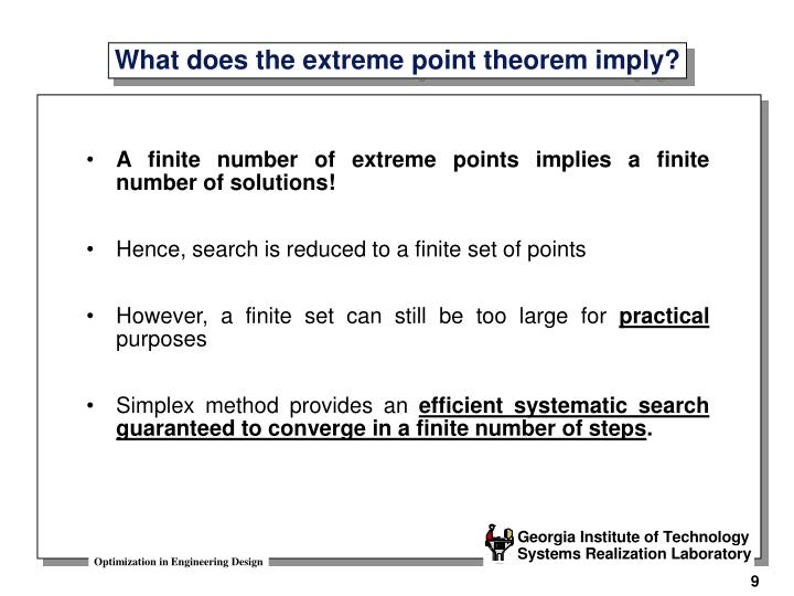 A finite number of extreme points implies a finite number of solutions!