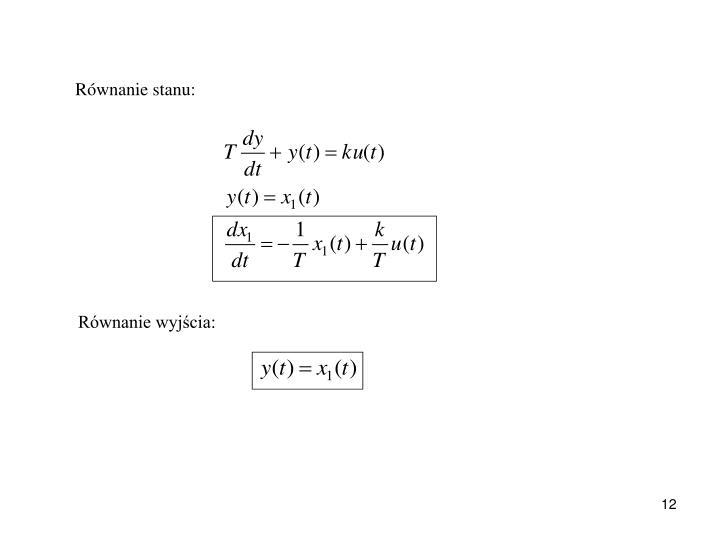 Równanie stanu: