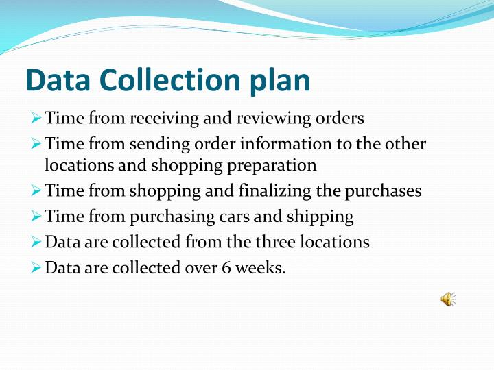 Data Collection plan