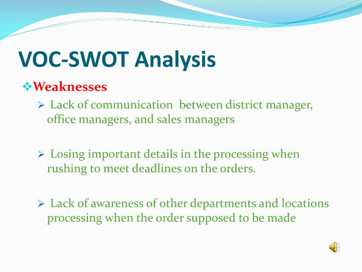 VOC-SWOT Analysis