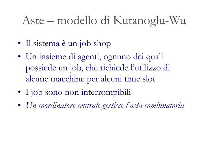 Aste – modello di Kutanoglu-Wu