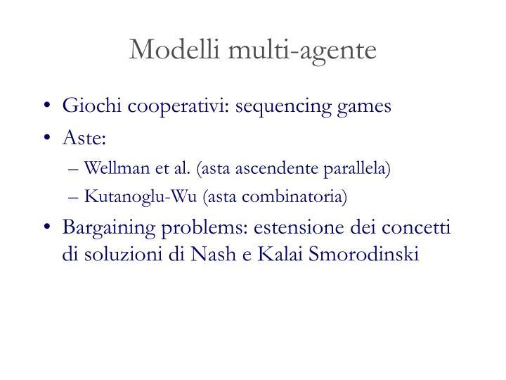 Modelli multi-agente