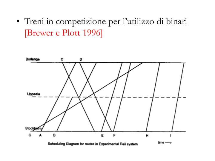Treni in competizione per l'utilizzo di binari
