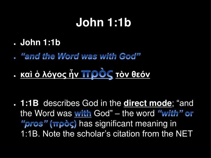 John 1:1b