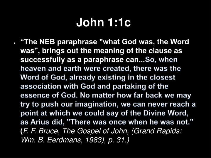 John 1:1c