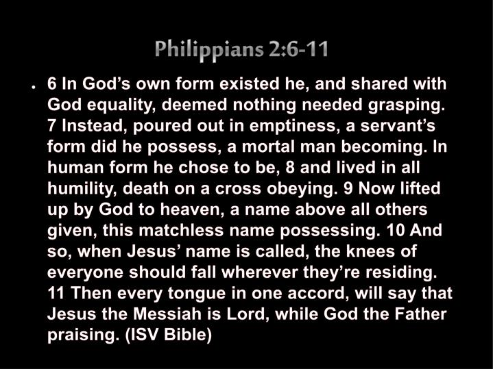 Philippians 2:6-11