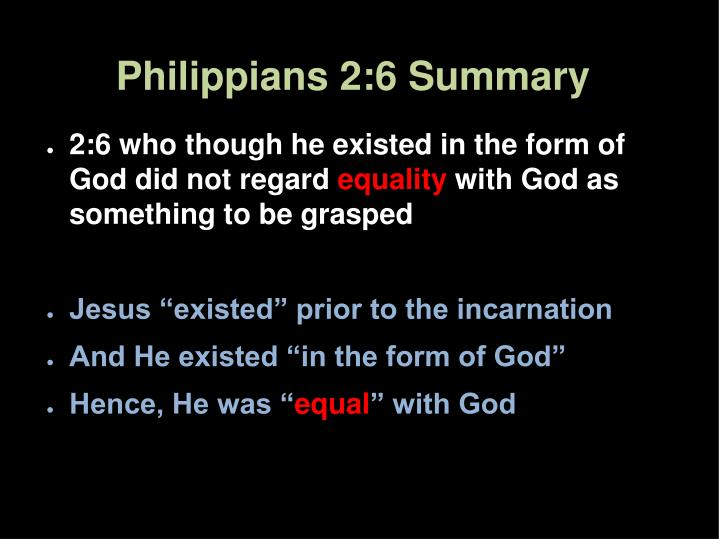 Philippians 2:6 Summary
