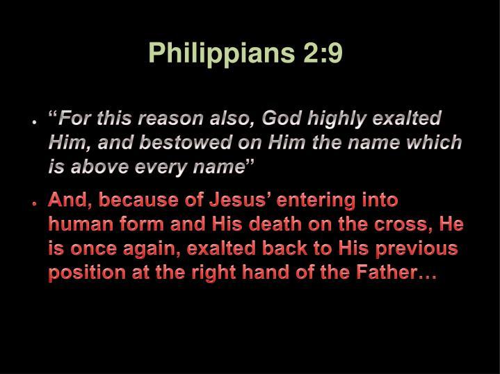 Philippians 2:9