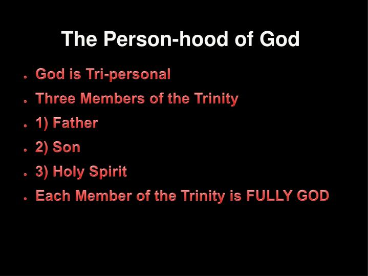 The Person-hood of God