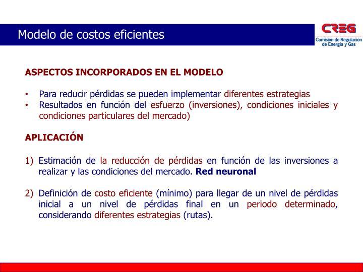 Modelo de costos eficientes