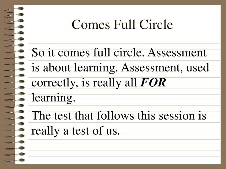 Comes Full Circle