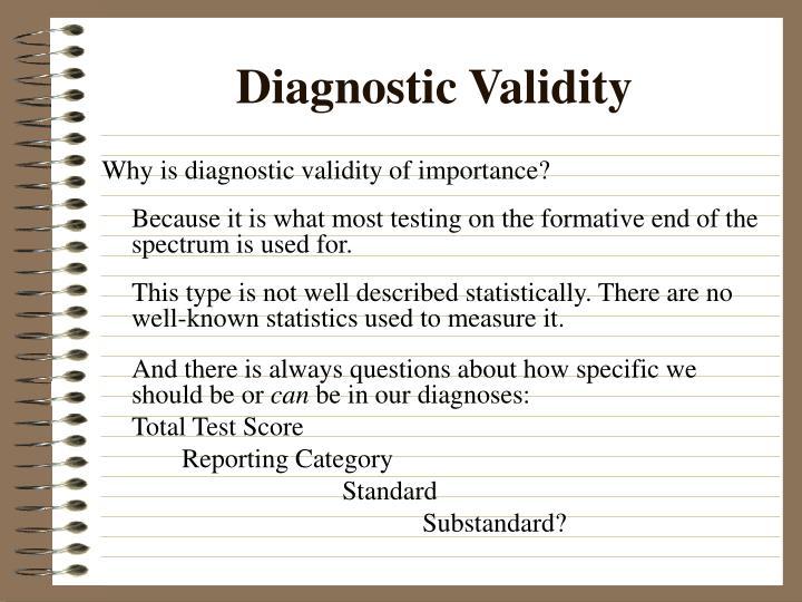 Diagnostic Validity