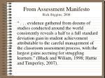 from assessment manifesto rick stiggins 2008