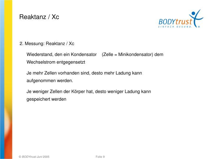 Reaktanz / Xc