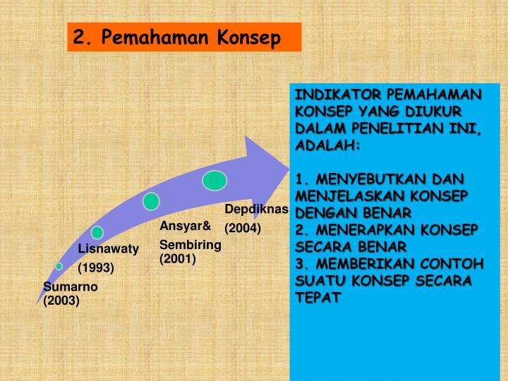 2. Pemahaman Konsep