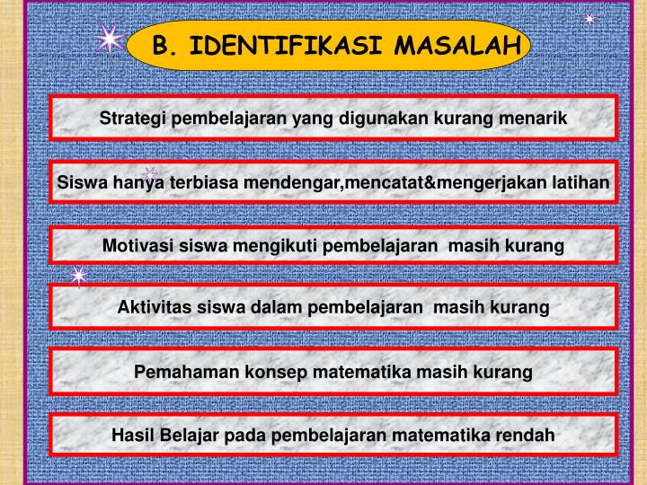 B. IDENTIFIKASI MASALAH
