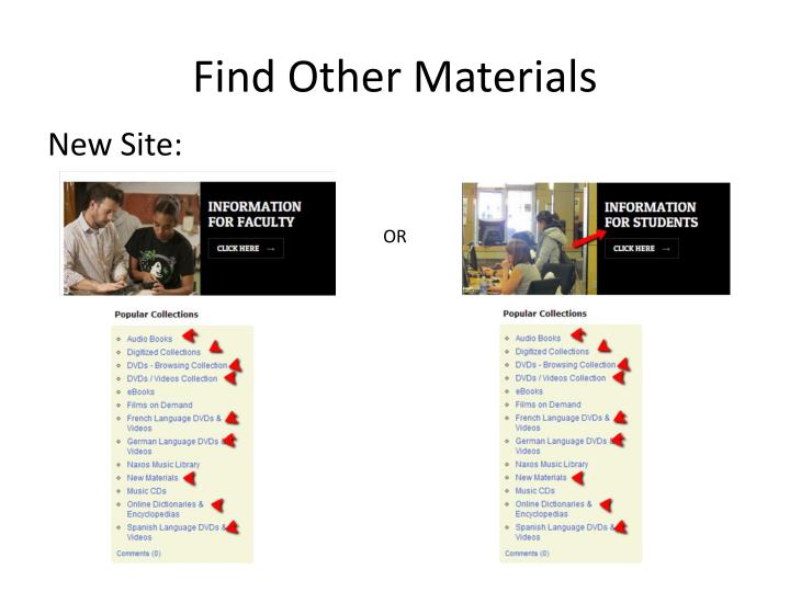 Find Other Materials