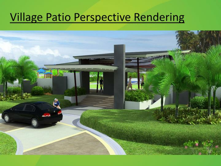 Village Patio Perspective Rendering