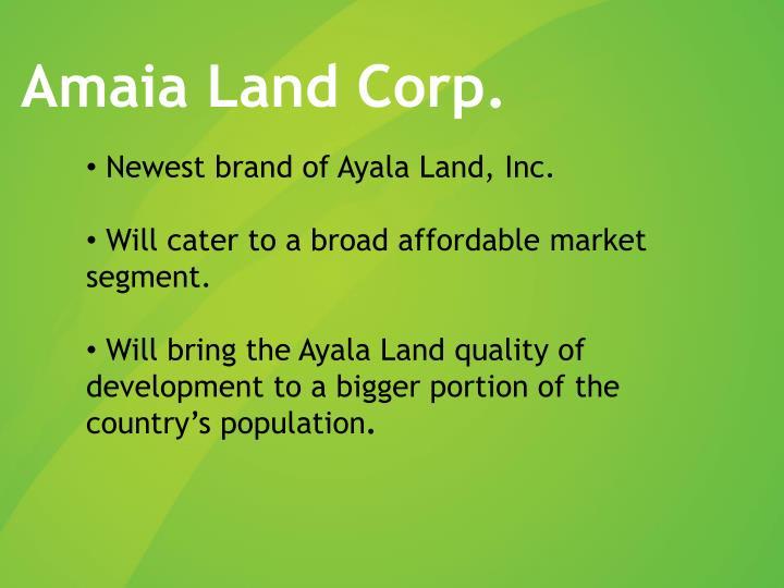 Amaia Land Corp.