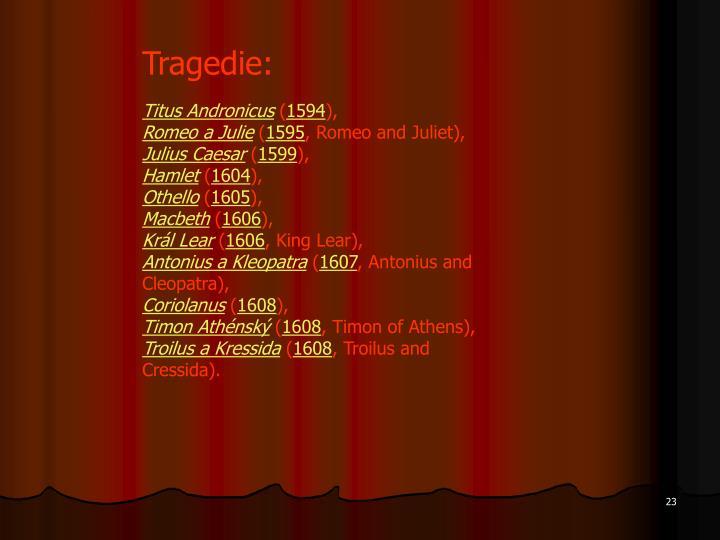 Tragedie: